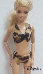 Leopard print bikini for Barbie dolls