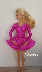 Bright pink long sleeve leotard and ballerina skirt