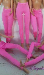 Bright pink ski pants