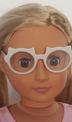 White glasses for Our Generation dolls