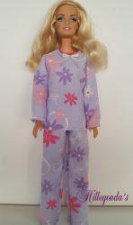 Lilac pajamas for Barbie doll I