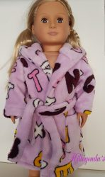 Bath robe for Our Generation dolls