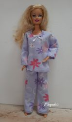 Lilac pajamas for Barbie doll