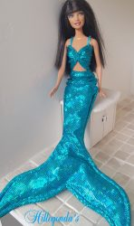 Aqua blue mermaid clothes