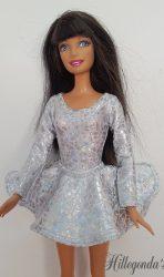 Sparkling silver long sleeve leotard and ballerina skirt