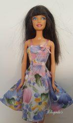 Blue and pink summer dress