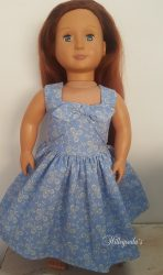 Blue summer dress for Our Generation doll