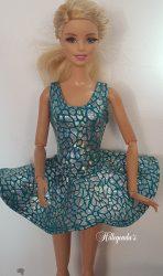 Aqua and silver ballerina skirt with leotard