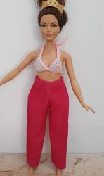 Prototype pink jean for Curvy Barbie I