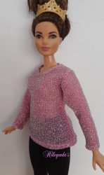 Pink sweater for Curvy Barbie