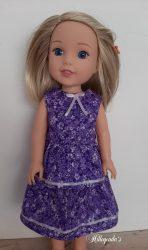 Purple dress for 36cm (14″) Wellie Wisher doll