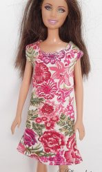 Pink flower PJ shirt for Barbie