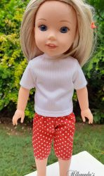 T-shirt and capri pants for 36cm (14″) Wellie Wisher doll