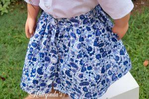 Blue flower skirt for Our Generation dolls