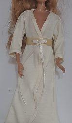 Cream long sleeve bathrobe