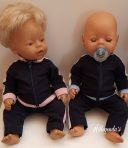 Tracksuit with zipper for Baby Born dolls