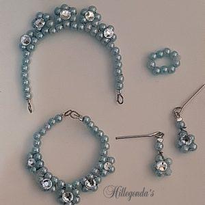 Aqua blue jewelry set