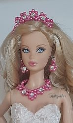 Bright pink jewelry set