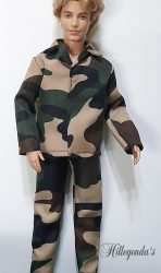 Camo clothes for Ken