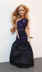 Purple and black dress II