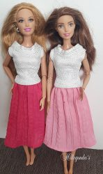 Dark pink skirt for Barbie dolls