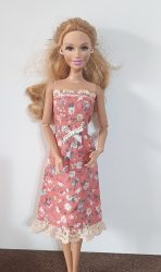 Apricot flower dress