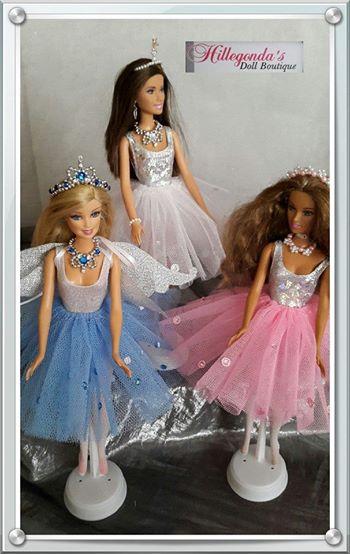 Costume wear for Barbie dolls
