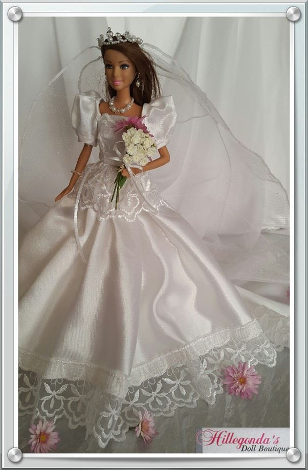 Wedding dresses for Barbie dolls